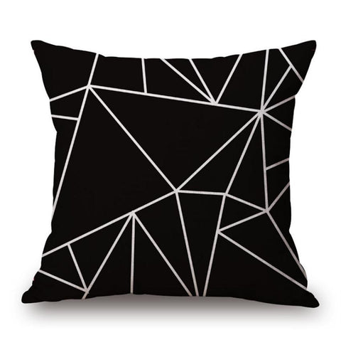 Geometric Black Pillowcase (Set of 2) - F. W. Woolworth Co. Online Store