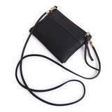 Black Two Panel Mini Crossbody