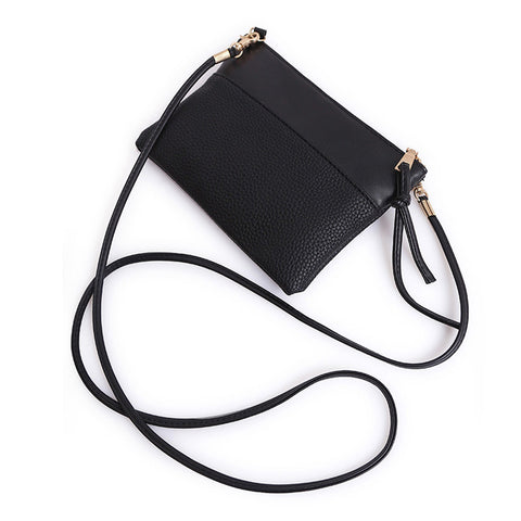 Black Two Panel Mini Crossbody - F. W. Woolworth Co. Online Store