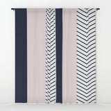 Navy Blush and Grey Arrow Window Curtains - F. W. Woolworth Co. Online Store