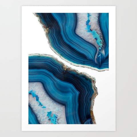 Blue Agate Art Print - F. W. Woolworth Co. Online Store
