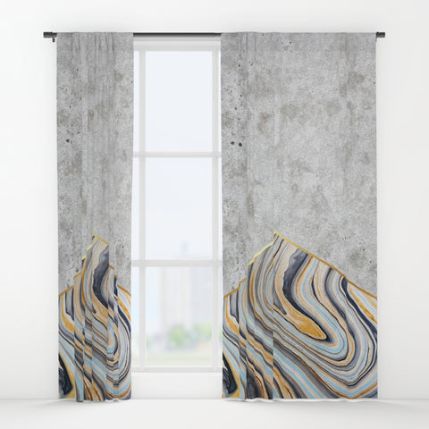 Concrete Marble Window Curtains