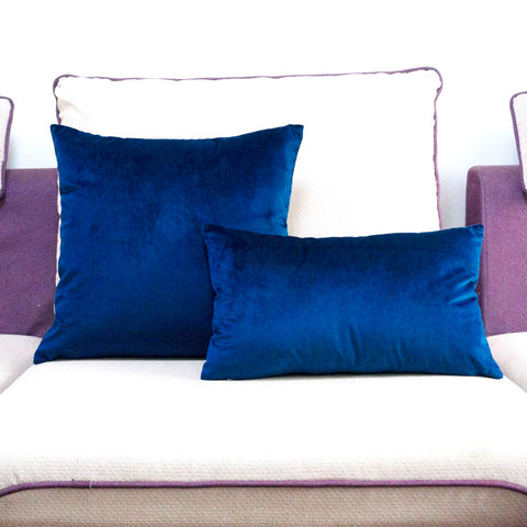 Soft Sapphire Velvet Pillow Case - F. W. Woolworth Co. Online Store