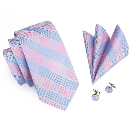 Silk Tie, Pocket Square, & Cufflinks Set - Brights - F. W. Woolworth Co. Online Store
