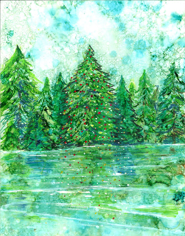 Peace & Joy Christmas Painting, Art Prints and Greeting Cards