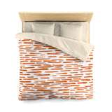 Red-Orange Stripes Microfiber Duvet Cover - F. W. Woolworth Co. Online Store