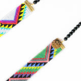 Acapulco Long Woven Beaded Necklace - tribal print - F. W. Woolworth Co. Online Store