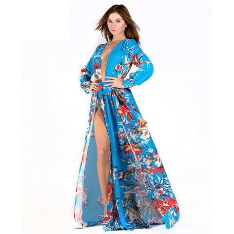 Blue Kimono Dress - F. W. Woolworth Co. Online Store