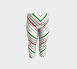 Christmas Candy Stripe Leggings