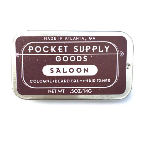 Saloon / Bourbon & Pine Scented Grooming Balm
