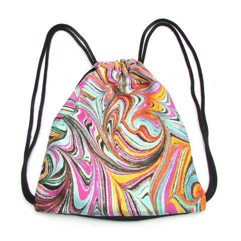 Ebru Drawstring Backpack