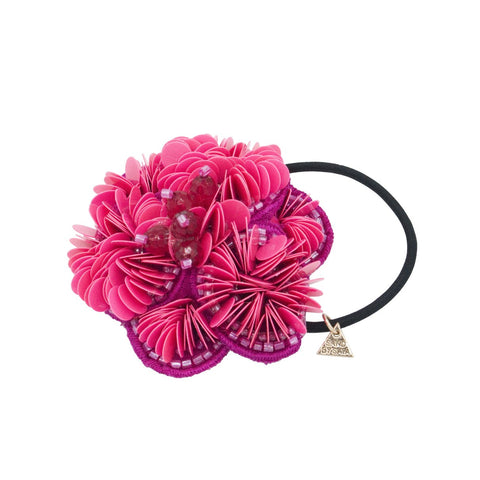 Pink Flower - Hair Tie