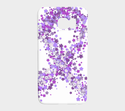 Purple Floral Ribbon Galaxy s7 Case