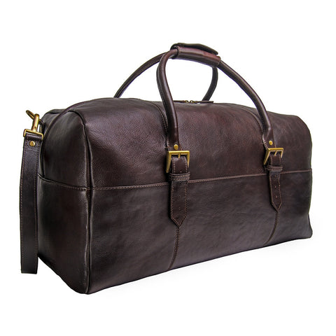 Hidesign Charles Leather Cabin Travel Duffle Weekend Bag - F. W. Woolworth Co. Online Store