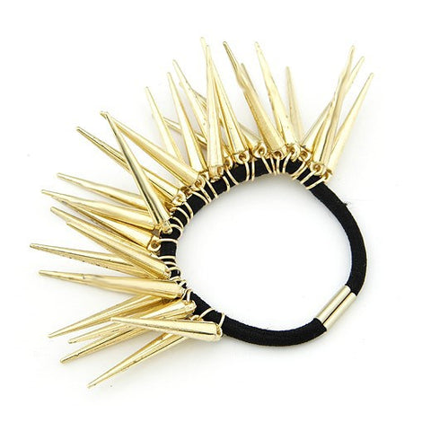 Gold Spike Ponytail Wrap