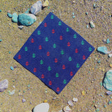 Anchor Pocket Square - Port & Starboard, Woven Silk - F. W. Woolworth Co. Online Store
