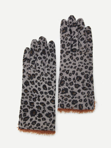 Leopard Print Gloves - F. W. Woolworth Co. Online Store