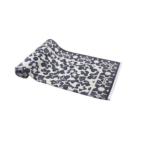 Gray Little Leaves Beach Towel