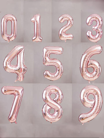 Number Balloon - Rose Gold