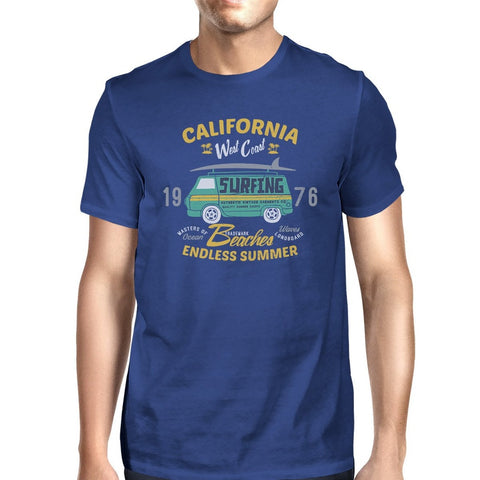 California Beaches Endless Summer Mens Royal Blue Shirt - F. W. Woolworth Co. Online Store