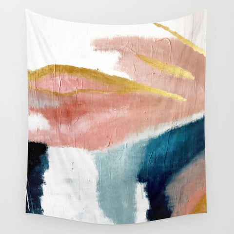 Exhale: a pretty, minimal, acrylic piece in pinks, blues, and gold - F. W. Woolworth Co. Online Store