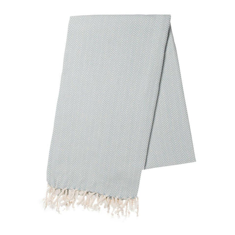 Mint Herringbone Turkish Towel - F. W. Woolworth Co. Online Store
