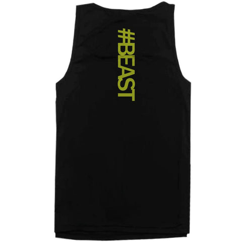 #Beast Neon Back Print Men's Work Out Tank Top Gym Sleeveless Beast Tanks