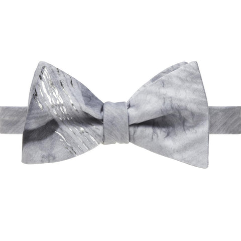 Trompe L'Oeil Grey Wood Grain Bow Tie - F. W. Woolworth Co. Online Store