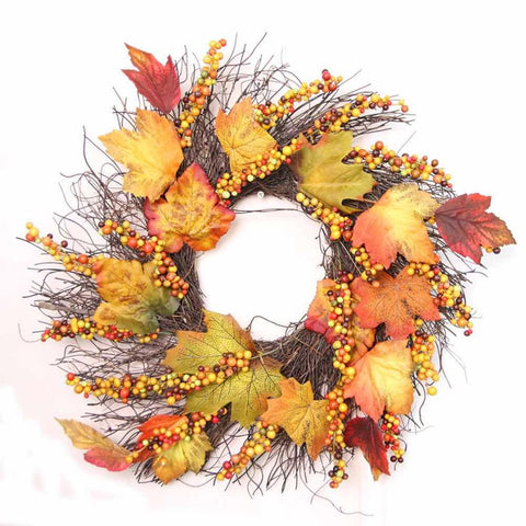 Faux Fall Wreath - F. W. Woolworth Co. Online Store