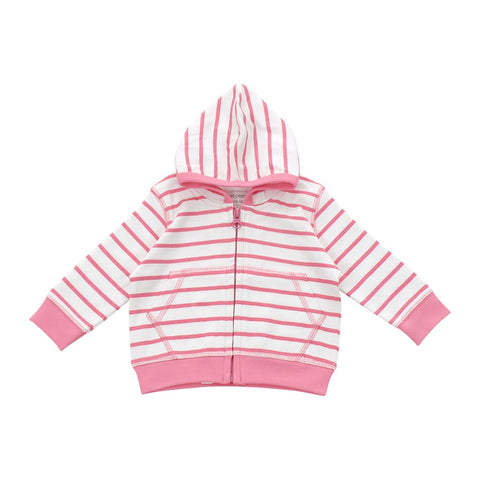 Hoodie in pink marseille stripe - F. W. Woolworth Co. Online Store