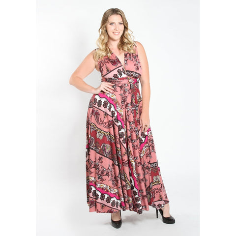 Eternity Convertible Printed Maxi Dress - Up to 6X