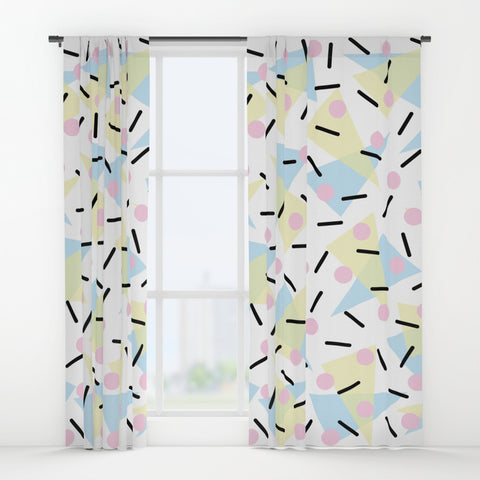 Funky Memphis Confetti Window Curtains