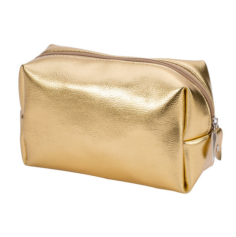 Gold Waterproof Cosmetics Bag - F. W. Woolworth Co. Online Store