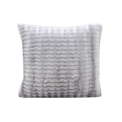 Plush Gray Pillowcase