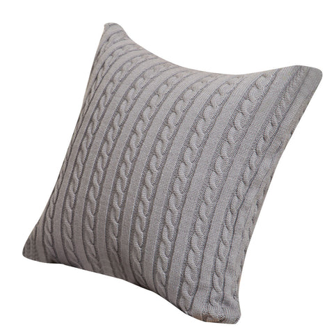 "Cable Knit Pillow Case 18"" x 18"" - F. W. Woolworth Co. Online Store"