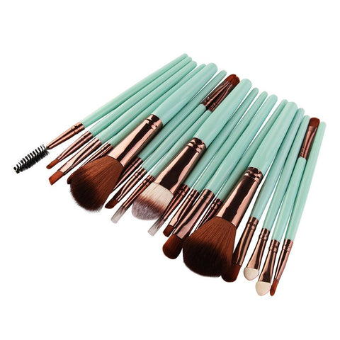 18pc Makeup Brush Set Black - F. W. Woolworth Co. Online Store