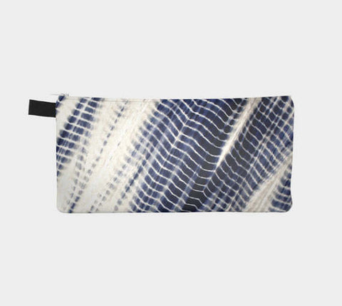 Shibori 32 Japanese Indigo Tie Dye Cosmetic Bag Travel Pencil Pouch