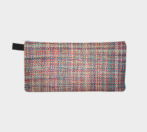 Bright Multi Tweed Chanel Like Printed Cosmetic Clutch Modern Printed Zipper Clutch Makeup Case - F. W. Woolworth Co. Online Store