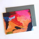 Colorful Abstract Painting Note Card - F. W. Woolworth Co. Online Store