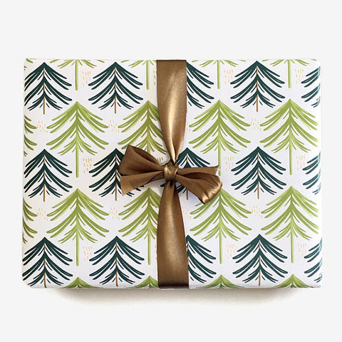 Holiday Gift Wrap - Evergreen Forest - F. W. Woolworth Co. Online Store