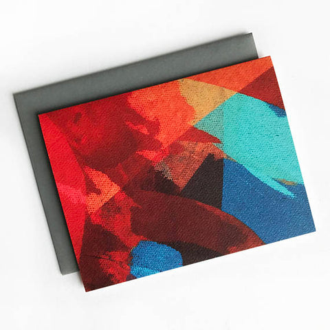 Colorful Abstract Painting Note Card