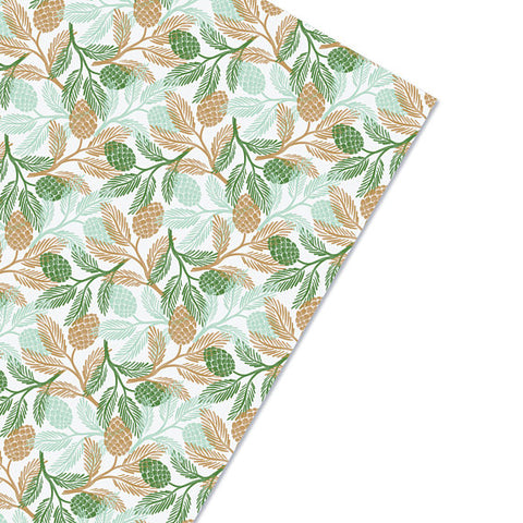 Winter Greens Gift Wrap - F. W. Woolworth Co. Online Store