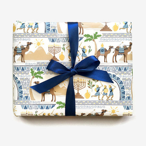 Holiday Gift Wrap - Hanukkah Story - F. W. Woolworth Co. Online Store