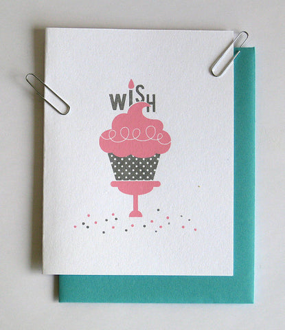 """Make A Wish"" Screen Printed Greeting Card - F. W. Woolworth Co. Online Store"