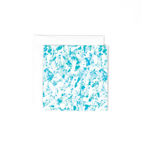 Mini Blank Greeting Card - Turquoise Abstract