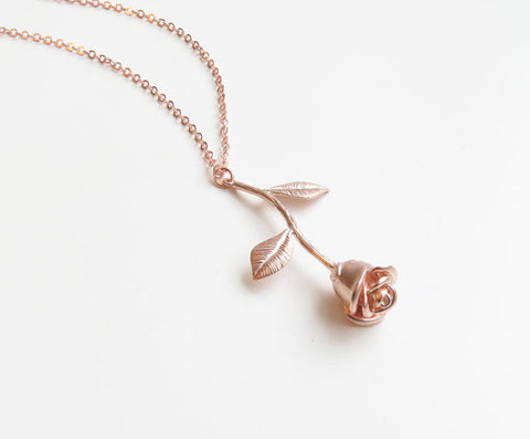 Delicate Rose Necklace - F. W. Woolworth Co. Online Store