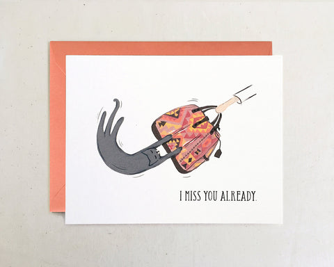'Miss You Already' Greeting Card