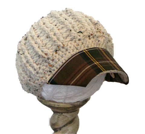 Oatmeal / Multi Plaid Reversible Hat