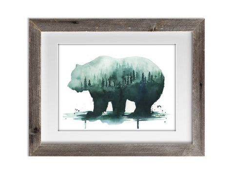 A Nature's Walk Watercolor Print