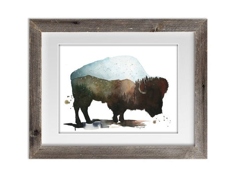 Mountain Roaming Watercolor Print